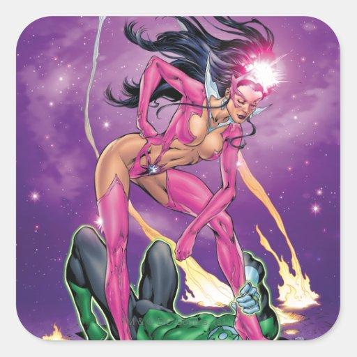 Green Lantern and Star Sapphire - Color Sticker