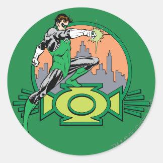 Green Lantern City Background and Logo Round Sticker