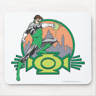 Green Lantern Cityscape Mouse Pads