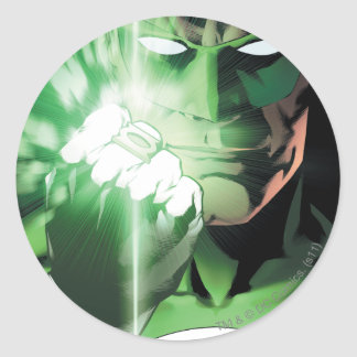 Green Lantern close up cover Round Sticker