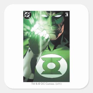 Green Lantern close up cover Square Sticker