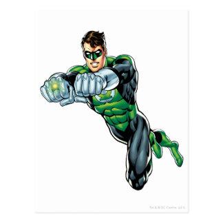 Green Lantern - Comic Both arms forward Post Card