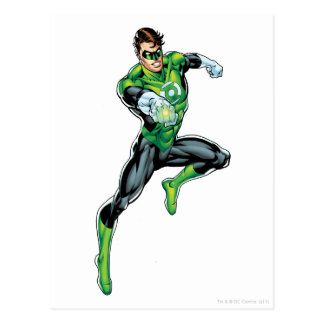 Green Lantern - Comic Jumping Post Card