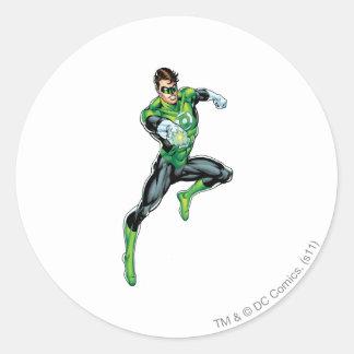 Green Lantern - Comic, Jumping Round Sticker