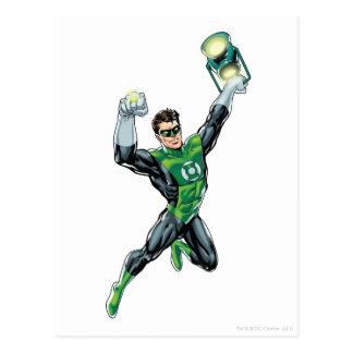Green Lantern - Comic with lantern Post Card