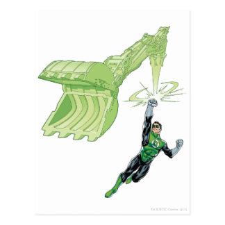 Green Lantern - Comic with machine Postcard