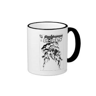 Green Lantern Corps, Black and White Ringer Coffee Mug
