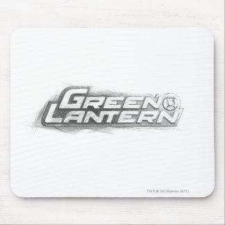 Green Lantern Drawing Mouse Pad