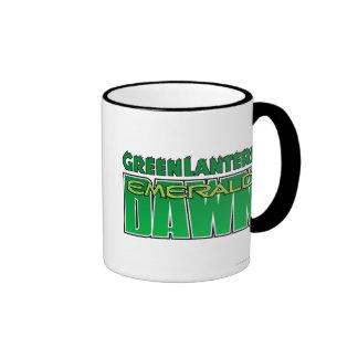 Green Lantern - Emerald Dawn Logo Ringer Mug
