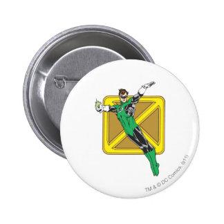 Green Lantern Extends Arms 2 Inch Round Button