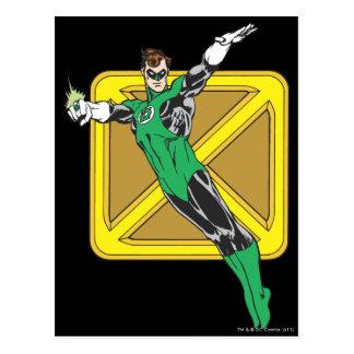 Green Lantern Extends Arms Postcard