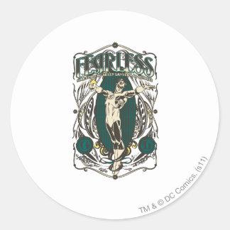 """Green Lantern - """"Fearless"""" Poster Round Sticker"""
