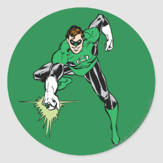 Green Lantern Fight Round Sticker