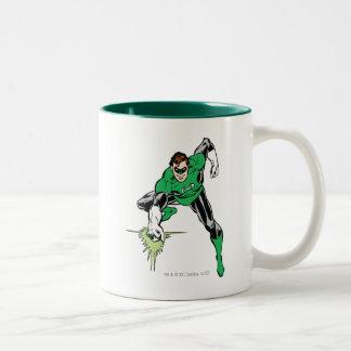 Green Lantern Fight Two-Tone Coffee Mug