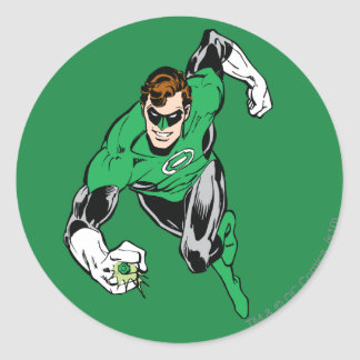 Green Lantern Fly Forward Classic Round Sticker
