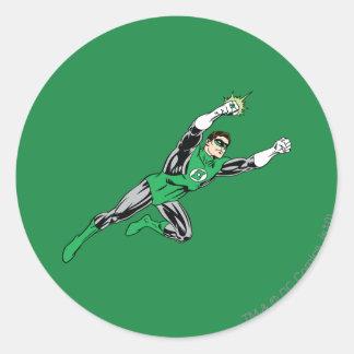 Green Lantern Fly Right Classic Round Sticker