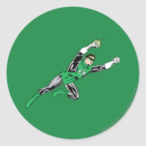 Green Lantern Fly Right Stickers