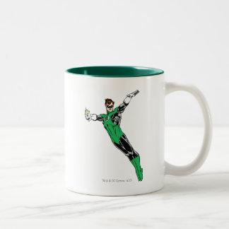 Green Lantern Fly Up Two-Tone Coffee Mug