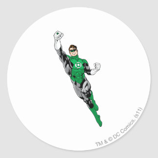 Green Lantern  - Flying Up Round Sticker