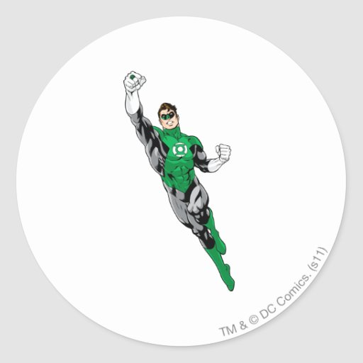 Green Lantern  - Flying Up Stickers