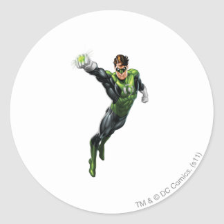 Green Lantern - Fully Rendered,  Arm out Round Sticker