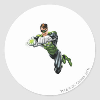 Green Lantern - Fully Rendered,  Both arms forward Round Sticker