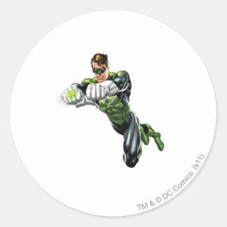 Green Lantern - Fully Rendered,  Both arms forward Round Sticker
