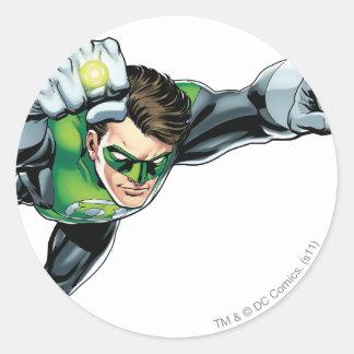 Green Lantern - Fully Rendered,  Flying Right Round Sticker