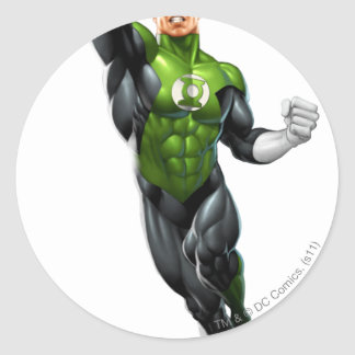 Green Lantern - Fully Rendered,  Flying Up Round Sticker