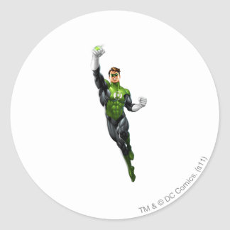 Green Lantern - Fully Rendered,  Flying Up Round Sticker