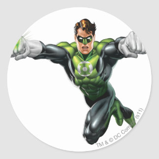 Green Lantern - Fully Rendered,  Looking Forward Classic Round Sticker