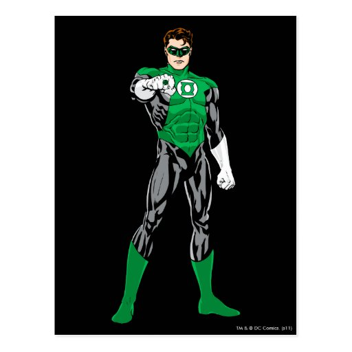 Green Lantern - Fully Rendered,  Standing Post Cards