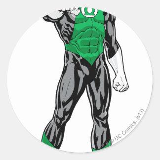 Green Lantern - Fully Rendered,  Standing Round Sticker