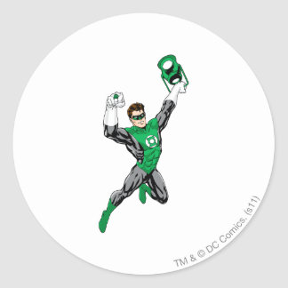 Green Lantern - Fully Rendered,  with lantern Round Sticker