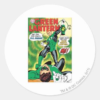 Green Lantern - Get Off this Earth Hal Jordan Round Sticker