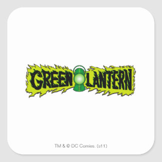 Green Lantern - Glowing Lantern 2 Square Sticker