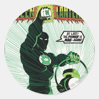 Green Lantern - Glowing Lantern Round Sticker