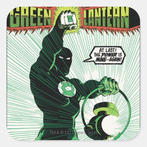 Green Lantern - Glowing Lantern Square Stickers
