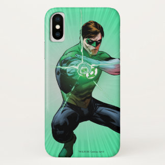 Green Lantern & Glowing Ring iPhone X Case