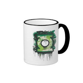 Green Lantern Graffiti Symbol Ringer Mug