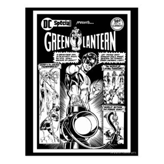Green Lantern  - Green Shaded Comic, Black and Whi Post Cards