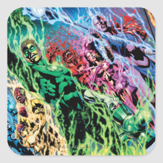 Green Lantern Group - Color Square Sticker