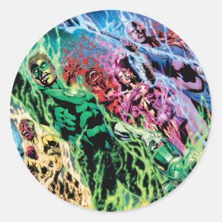 Green Lantern Group - Color Round Sticker