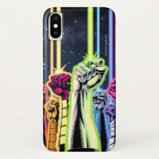 Green Lantern - Hands in the Air iPhone X Case