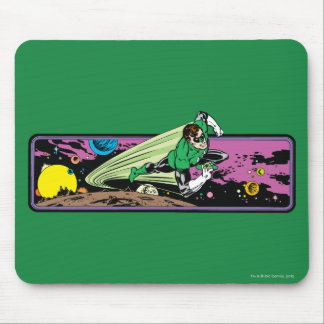 Green Lantern in Space Mouse Pad