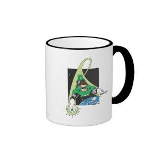 Green Lantern in Space Ringer Coffee Mug