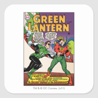 Green Lantern in the ring Square Sticker