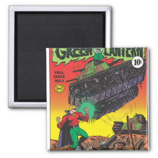 Green Lantern in the trenches Magnet