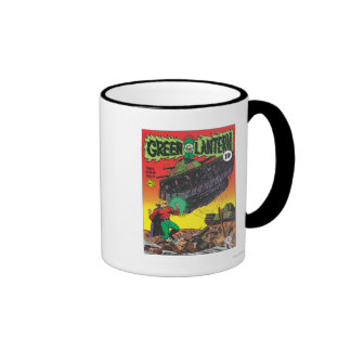 Green Lantern in the trenches Ringer Mug
