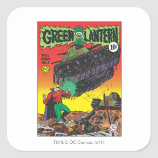 Green Lantern in the trenches Square Sticker